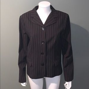 Rampage WOMANS black white pin stripe jacket SZ.L